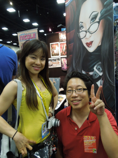 Riri with Ejen from Cosplay in America