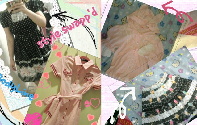 "I swapped a ""Liz Liza Doll"" dress for this cute ""BodyLine"" dress."