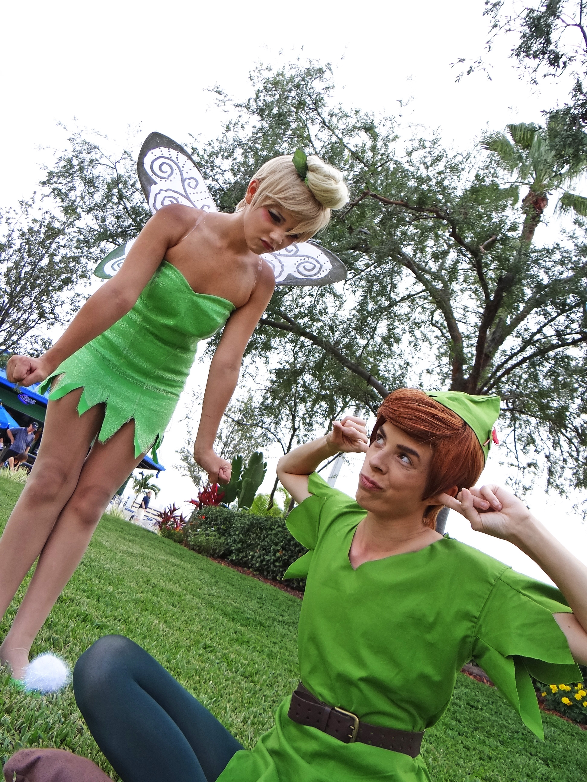 Peter Pan by theycriedwolf and Tinkerbell by Yanii Linda