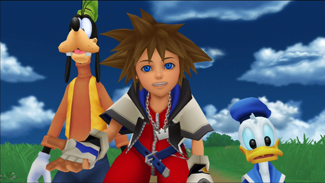 Goofy, Sora, and Donald: the core party on the search for King Mickey