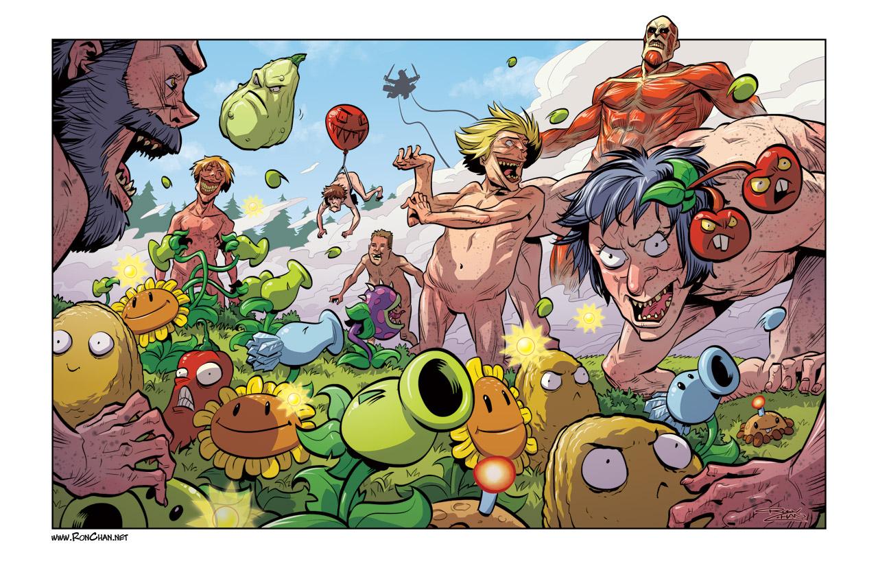 Plants vs Titans by Ron Chan