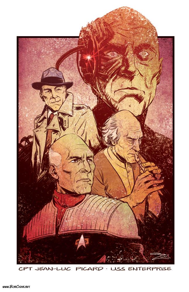 Star Trek Captain Picard by Ron Chan