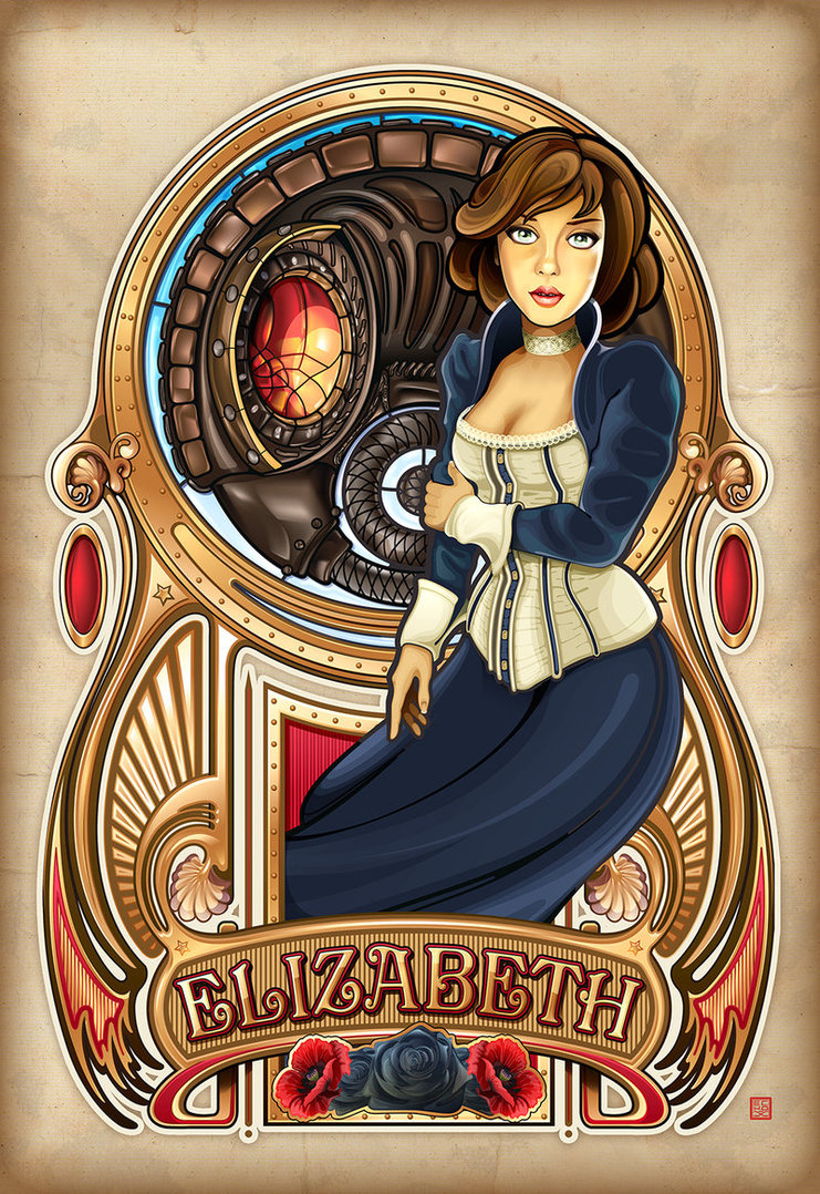 Art Nouveau Elizabeth from Bioshock Infinite, phot extracted from DA page