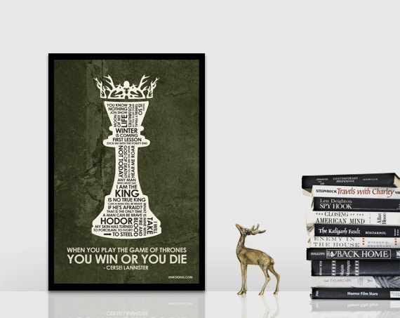 Game of Thrones Quote Poster  Picture from https://www.etsy.com/shop/UnikoIdeas