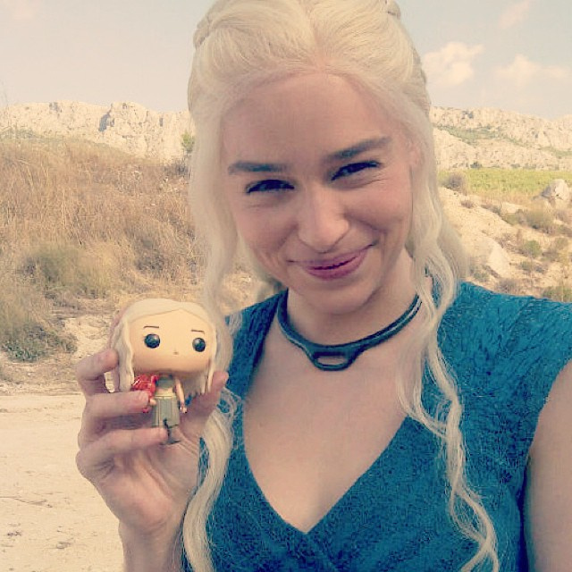 The Mother of Dragons - Emilia Clarke and her tiny Daenerys