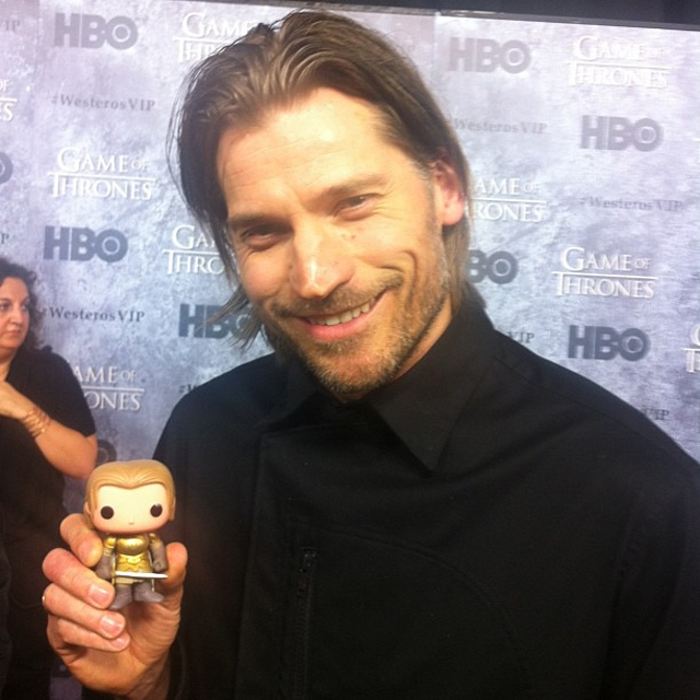 Nikolaj Coster is happy with his Jaime Lannister figurine