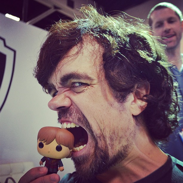 Little Tyrion Lannister is being eaten by Peter Dinklage