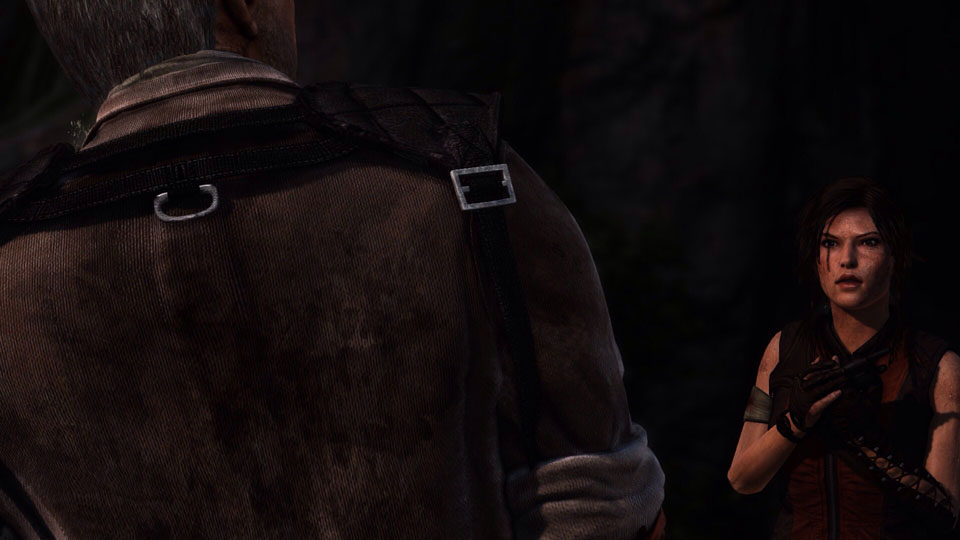 """one of the many """"outfits"""" Lara can don during her trek for survival"""