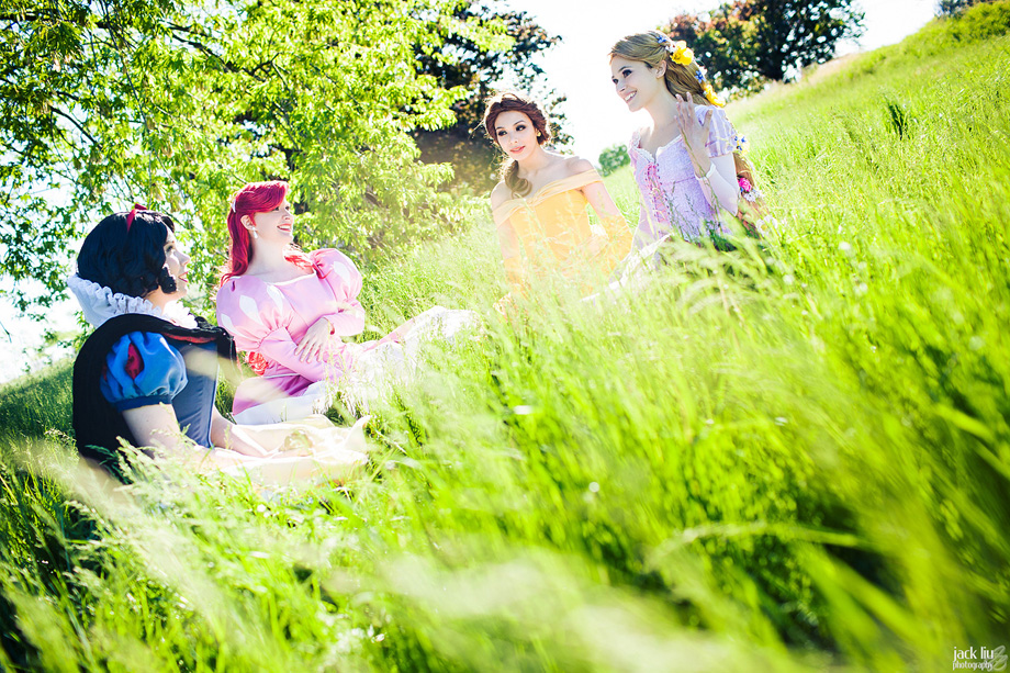 Photography by Jack Liu  Ariel is CelticSakura ( Facebook )  Rapunzel is GebGeb Cosplay ( Facebook )  Belle is MaggieMoogle