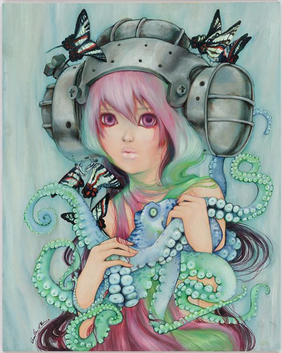 "Artwork by Camilla d'Errico ""Where the Wild Things Squirm"""