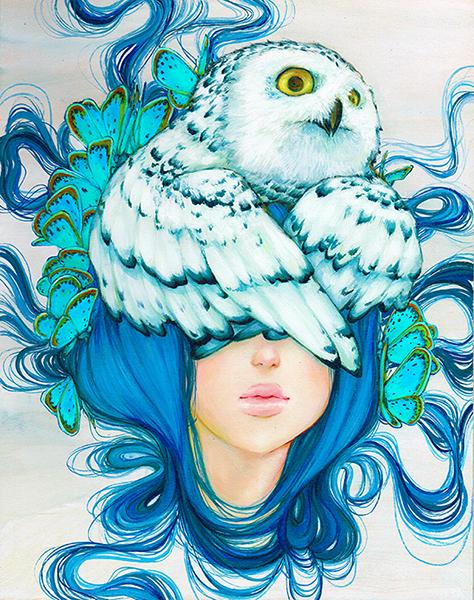 """Artwork by Camille d'Errico """"Fukurou"""""""