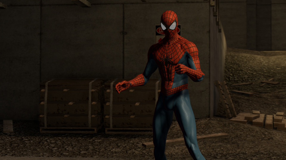 at least Spidey's character mode is rendered with care