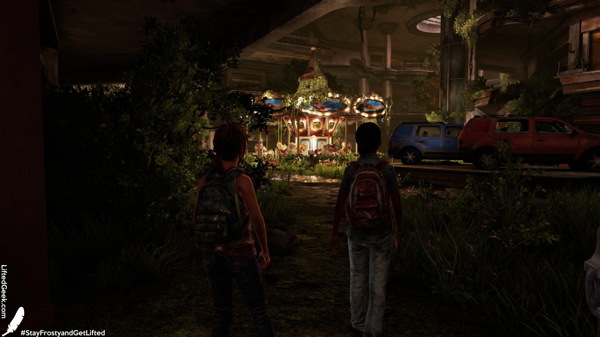 a scene from Left Behind , originally released as DLC last gen