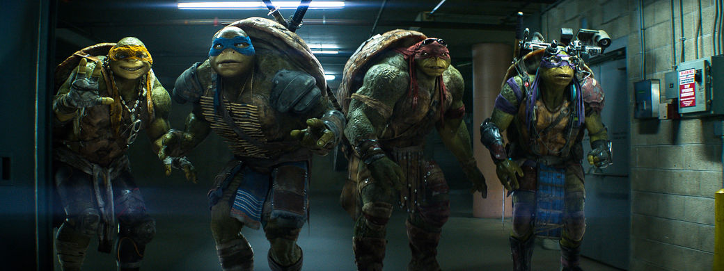 our four heroes: (L-R) Michelangelo, Leonard, Raphael, and Donatello.
