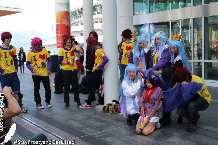No Game No Life ... seemingly one of the most popular cosplays at AniRevo 2014