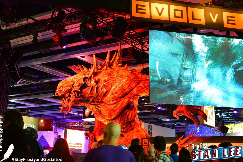 Evolve's booth was a sight to behold