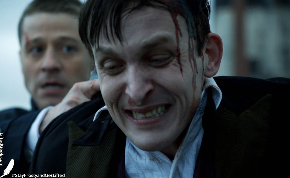 Oswald Cobblepot portrayed by Robin Lord Taylor