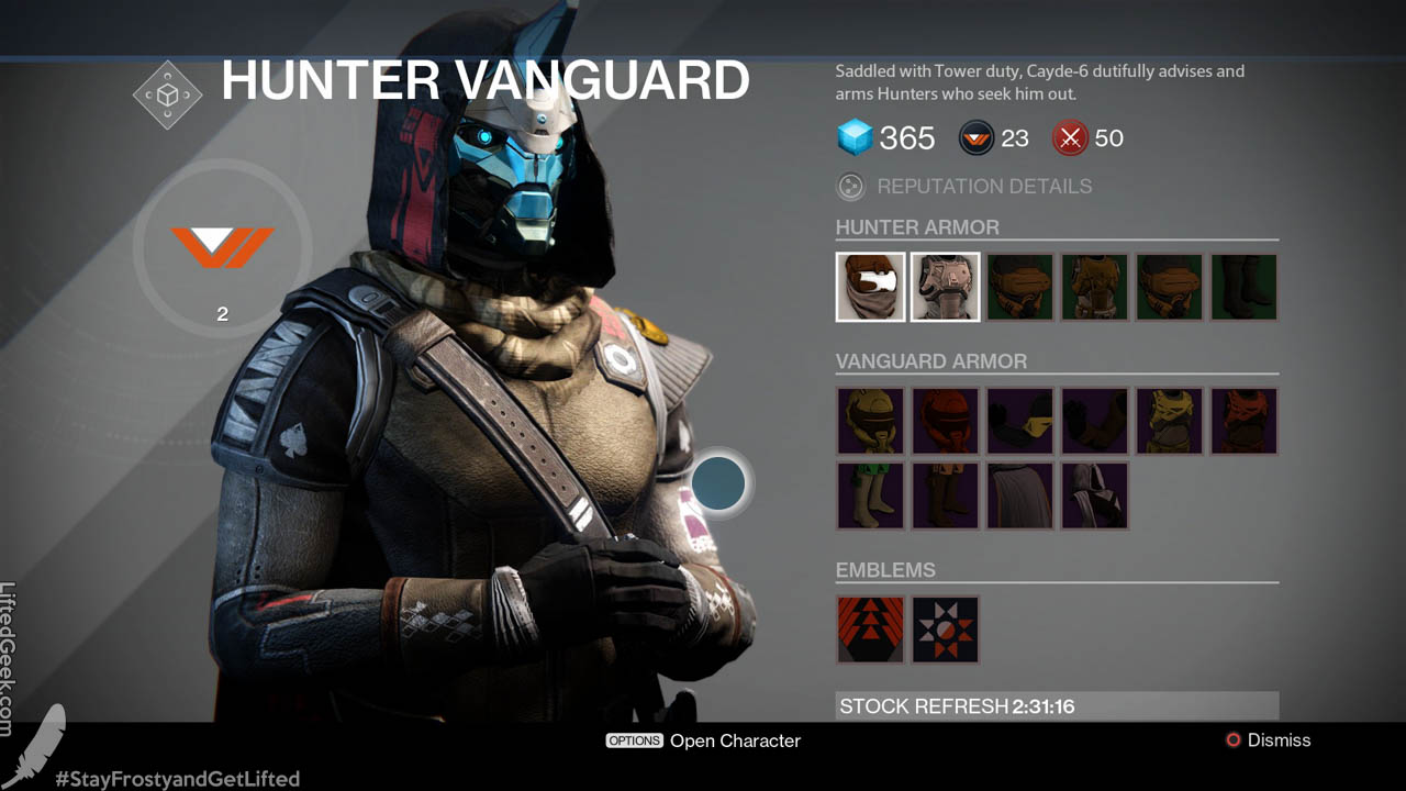 Cayde-6, the Hunter Vanguard mentor voiced by Nathan Fillion