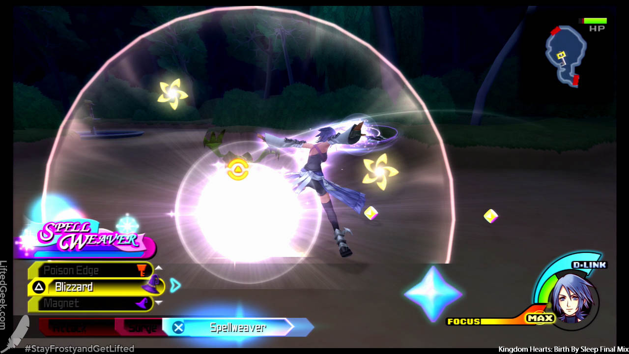 KH gameplay we know and love... just scaled downa tick...