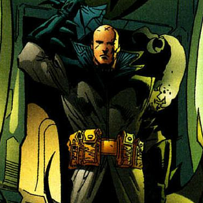 an older Damian Wayne taking over as Batman