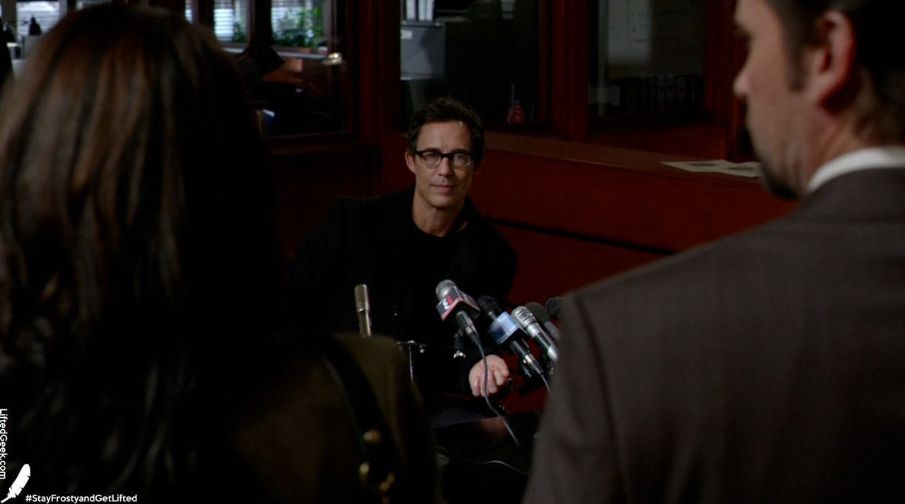 Harrison Wells comes clean at a very public press conference