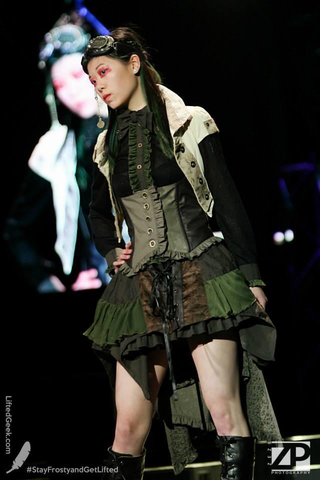 Ninja-Dee struttin her stuff at the h.Naoto fashion show