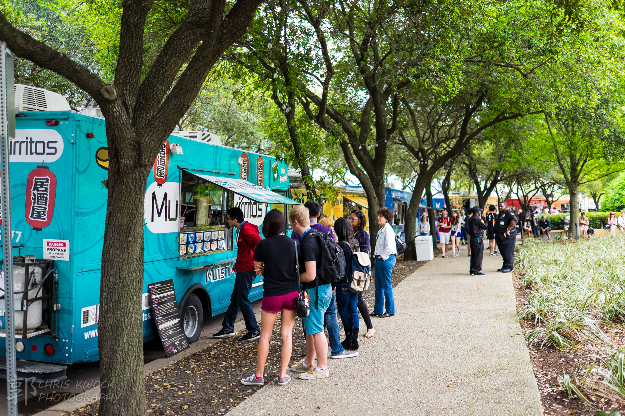 Food trucks outside the convention center