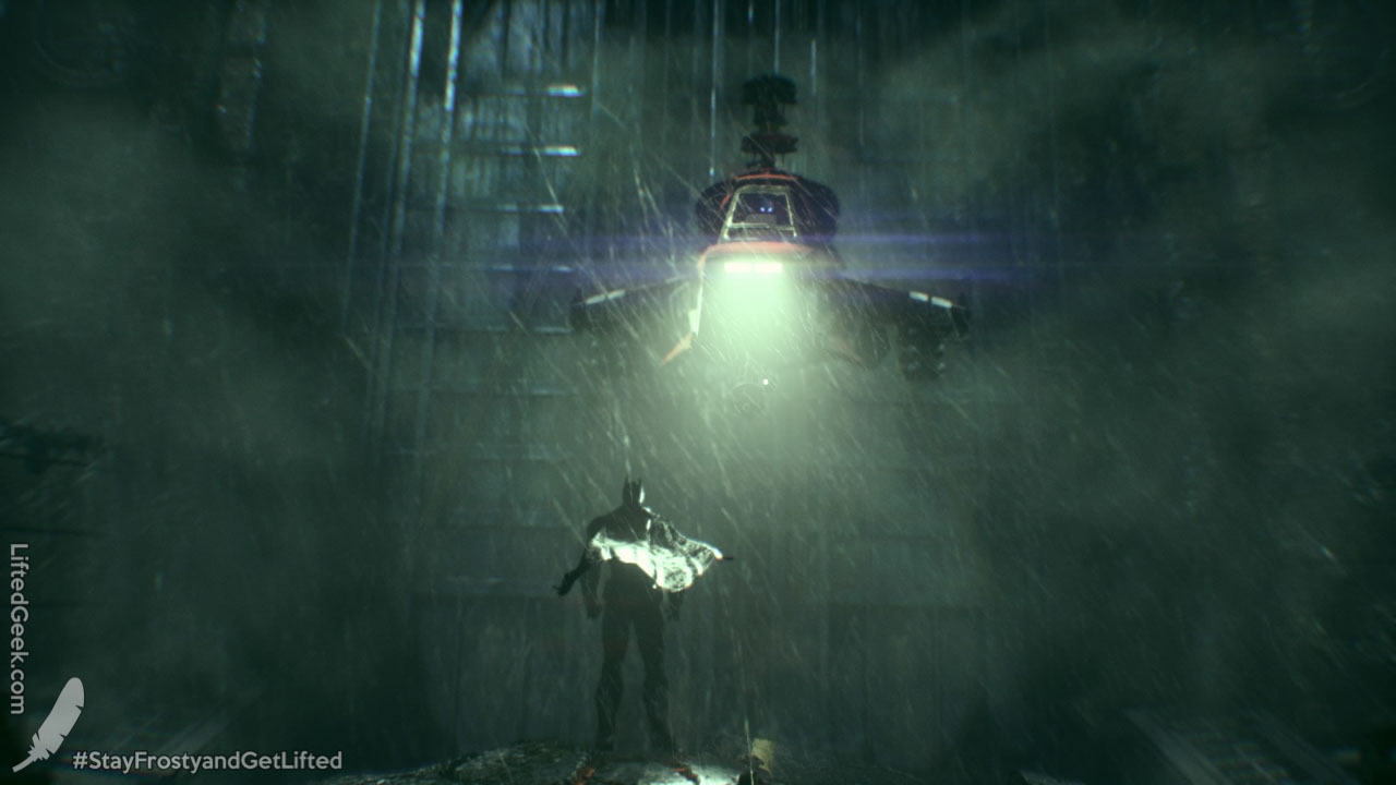 Batman face-to-face with the Arkham Knight