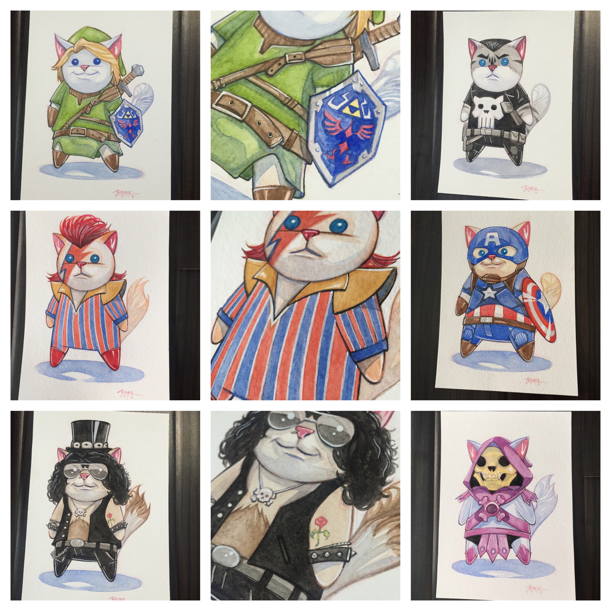 Various Pop Cats illustrated by Ninjabot Image by Ninjabot
