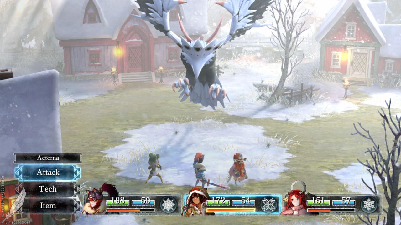 combat in  I Am Setsuna is refreshingly retro
