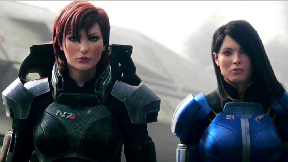 (FEMALE) Shepard with Ash if she survives Virmire in Mass Effect 3