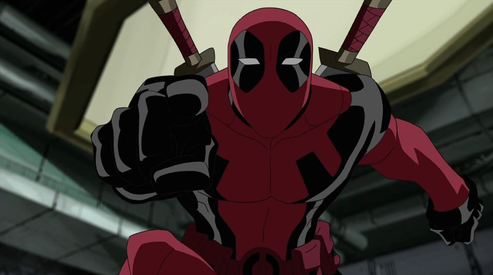 Deadpool from Ultimate Spider-Man, clearly a kids show...