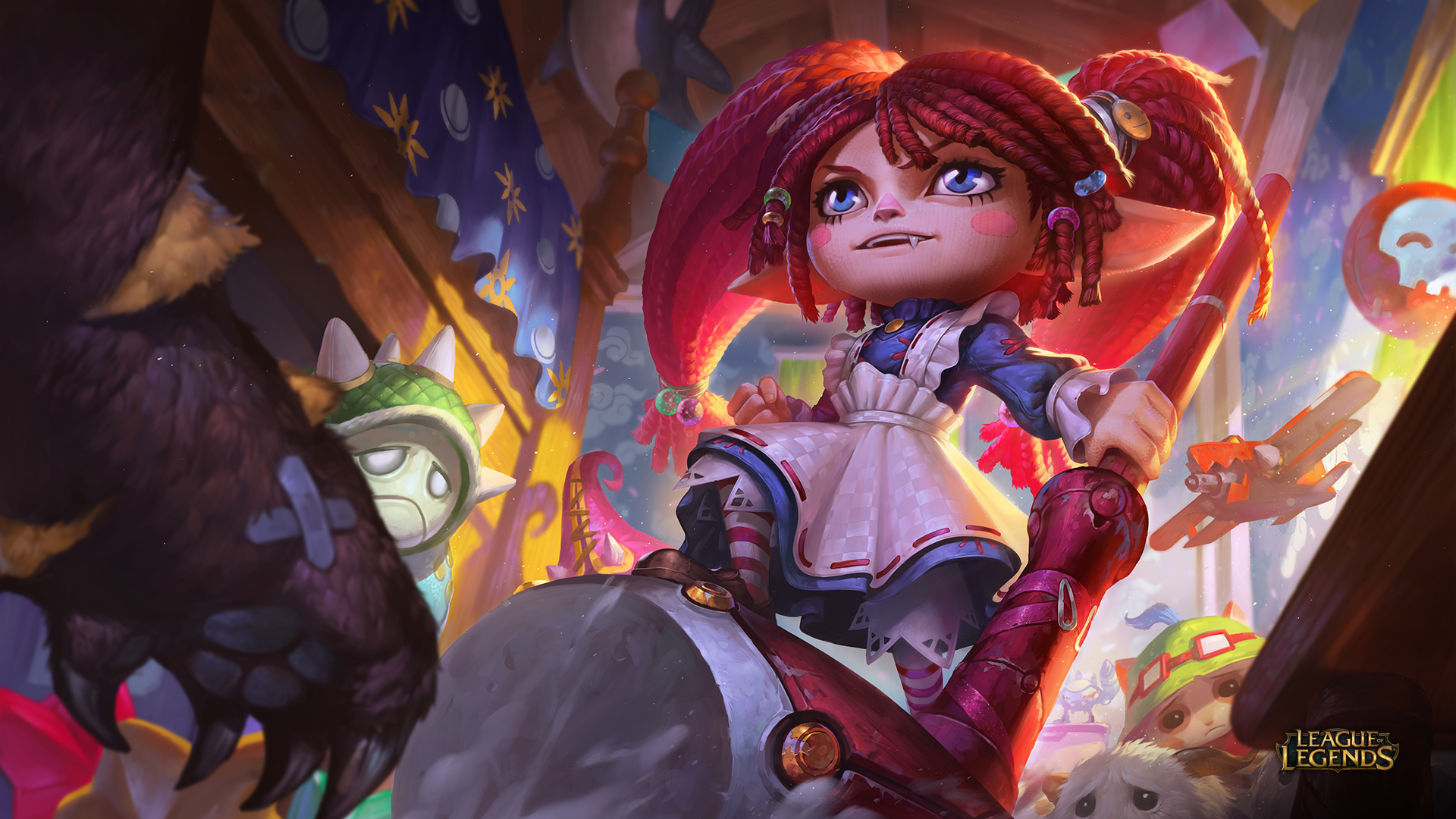 League of Legends Ragdoll Poppy splash art