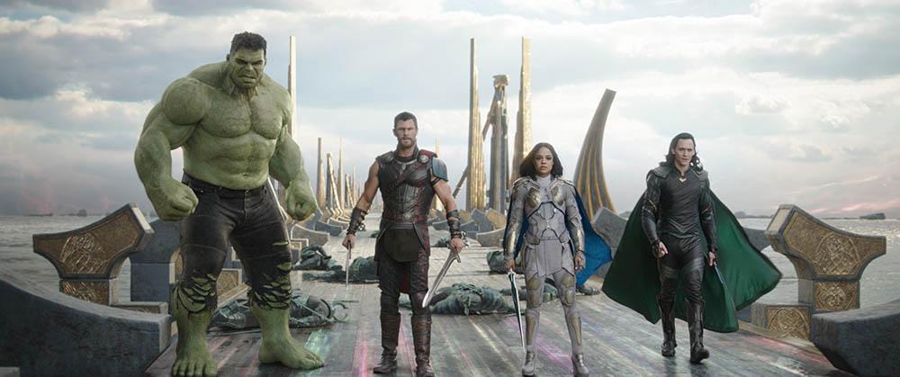 Hulk, Thor, Valkyrie, and Loki... the Revengers...