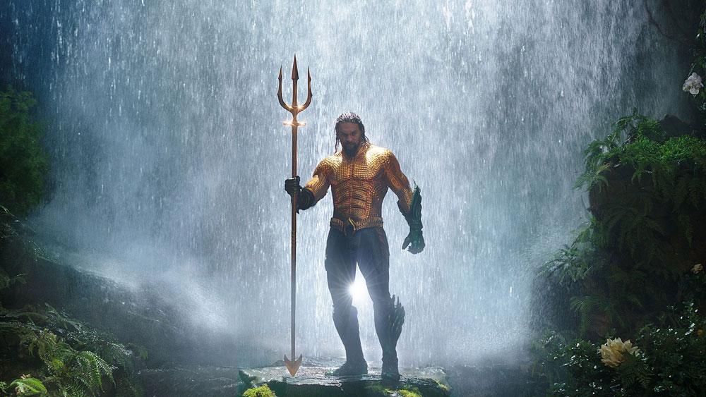 Jason Mamoa as Aquaman, traditionally portrayed as a blonde white guy