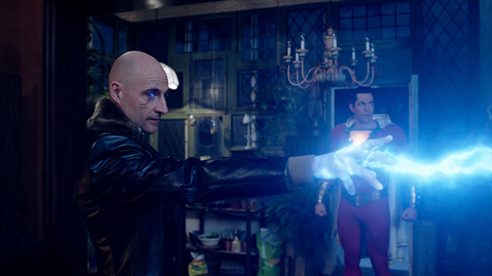 Sivana (Mark Strong) showing off his powers