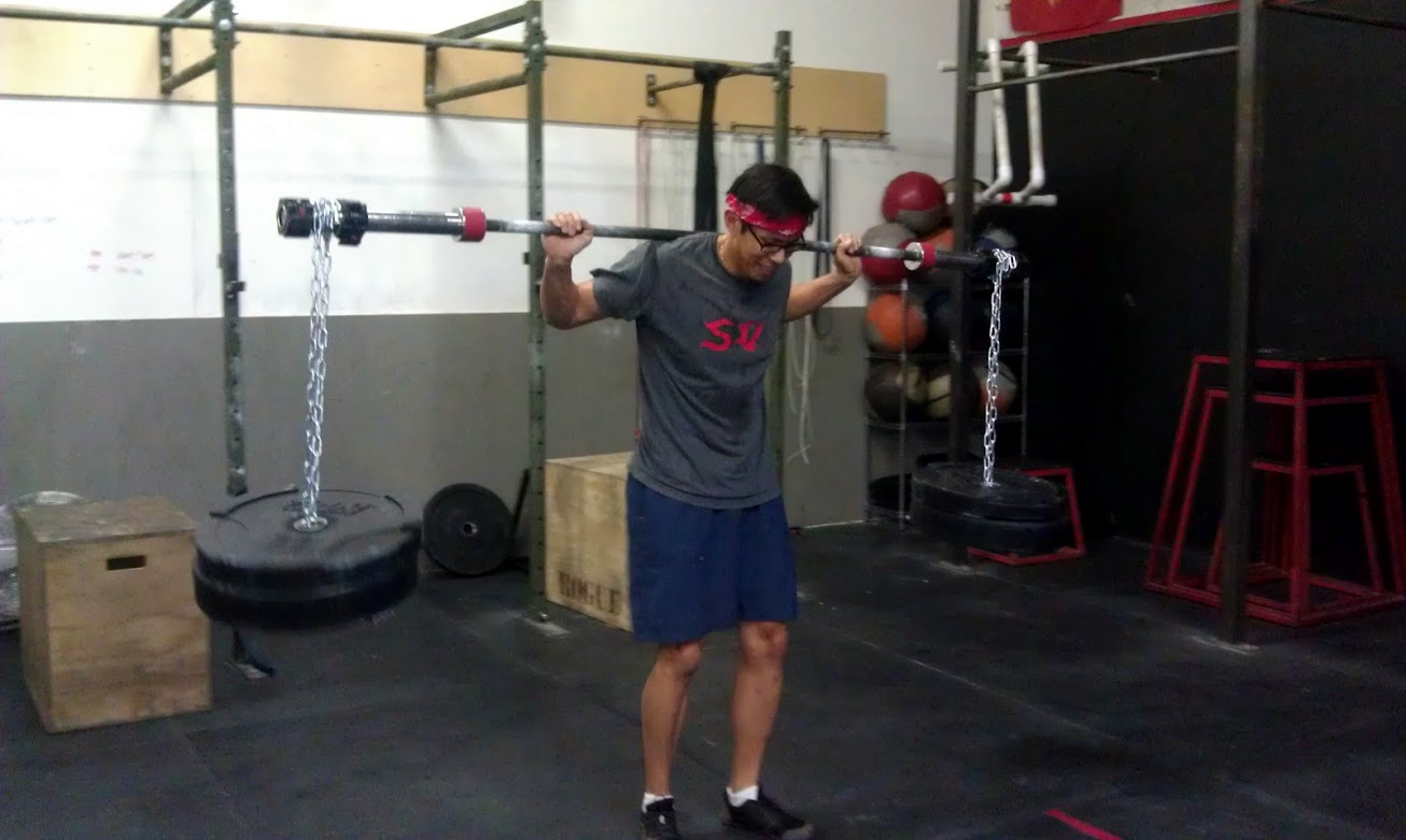 -Somsay getting yoked! Thank you buddy for fabricating some fine pieces of equipment.