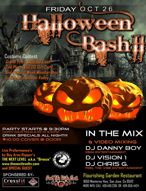 """Our Halloween Party will be a co-op event with our nieghbors """"THE FLOURISHING GARDEN RESTAURANT"""""""