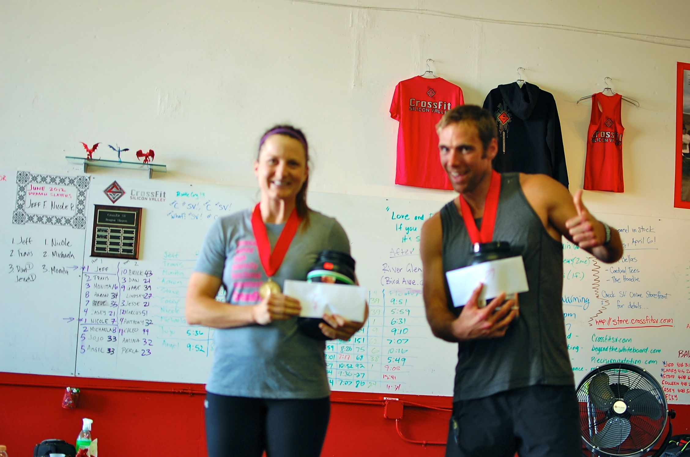 DW 2 winners Nicole and Jeff!