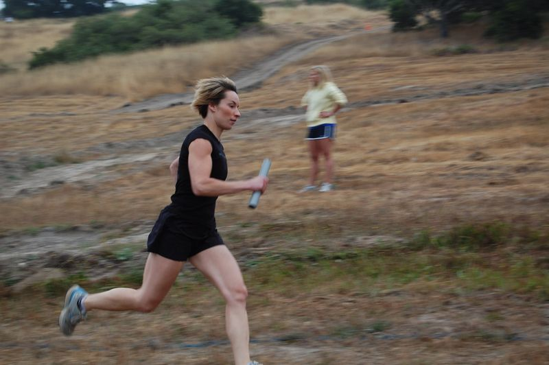 Coach Michaela having fun running around in Aromas!