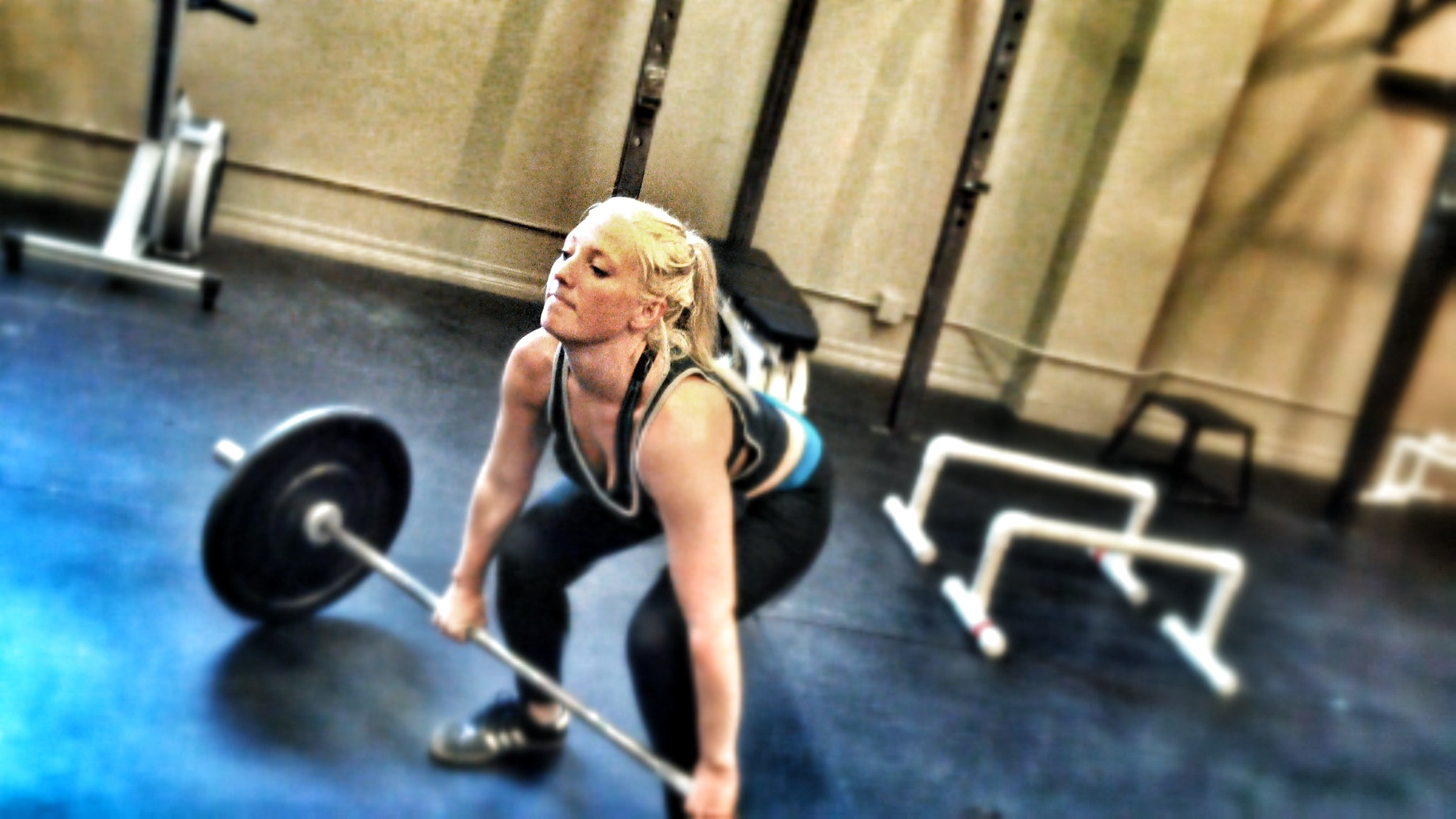 Nikki is learning and applying the basic movements as a new CrossFitter working as a Registered Nurse.