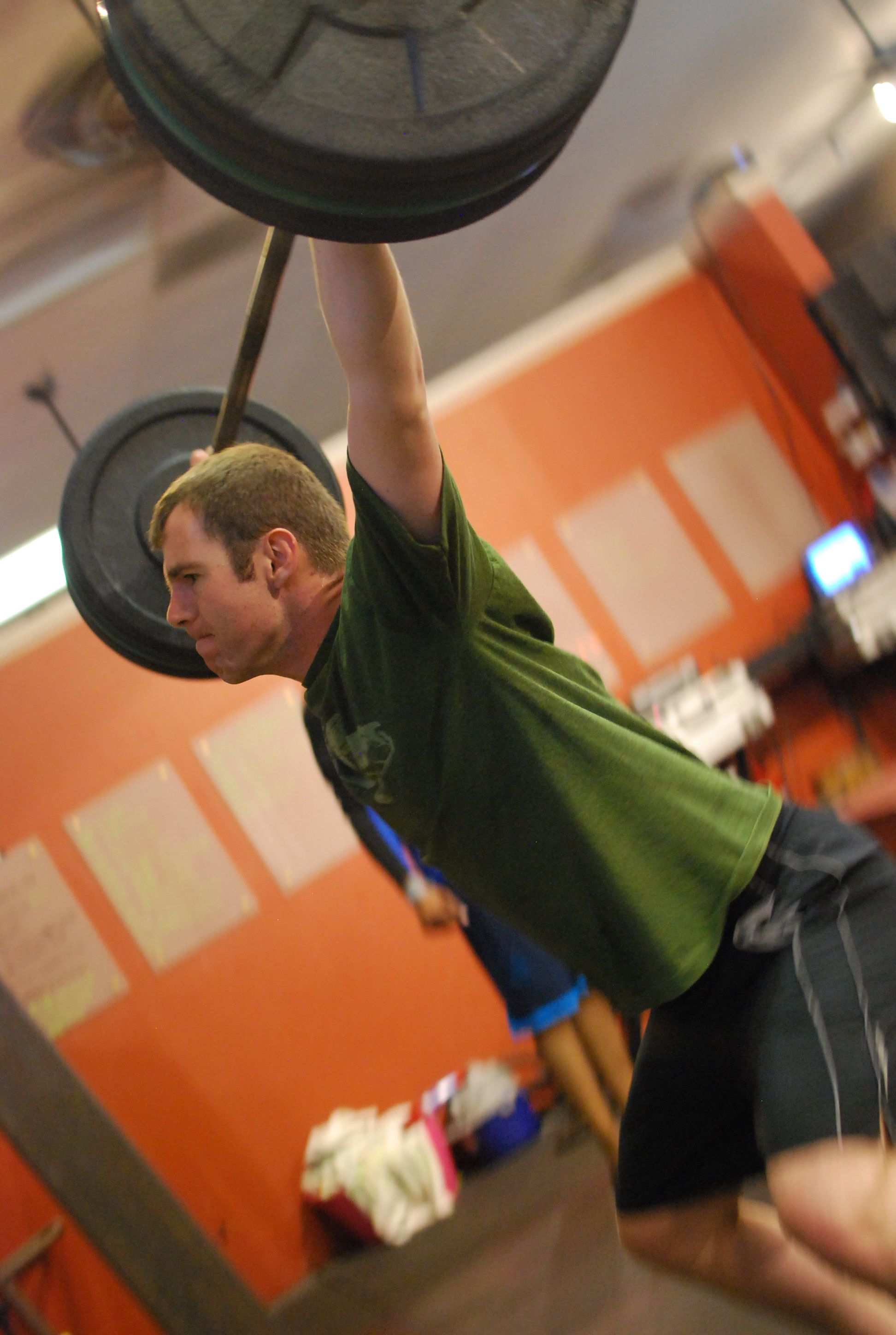Gavin Douglas hits good positions on the power snatch! He has been quite consistent in the evening class as he lives rather close to the box. We are so proud to be in a convenient location for Silicon Valley's finest fellows!
