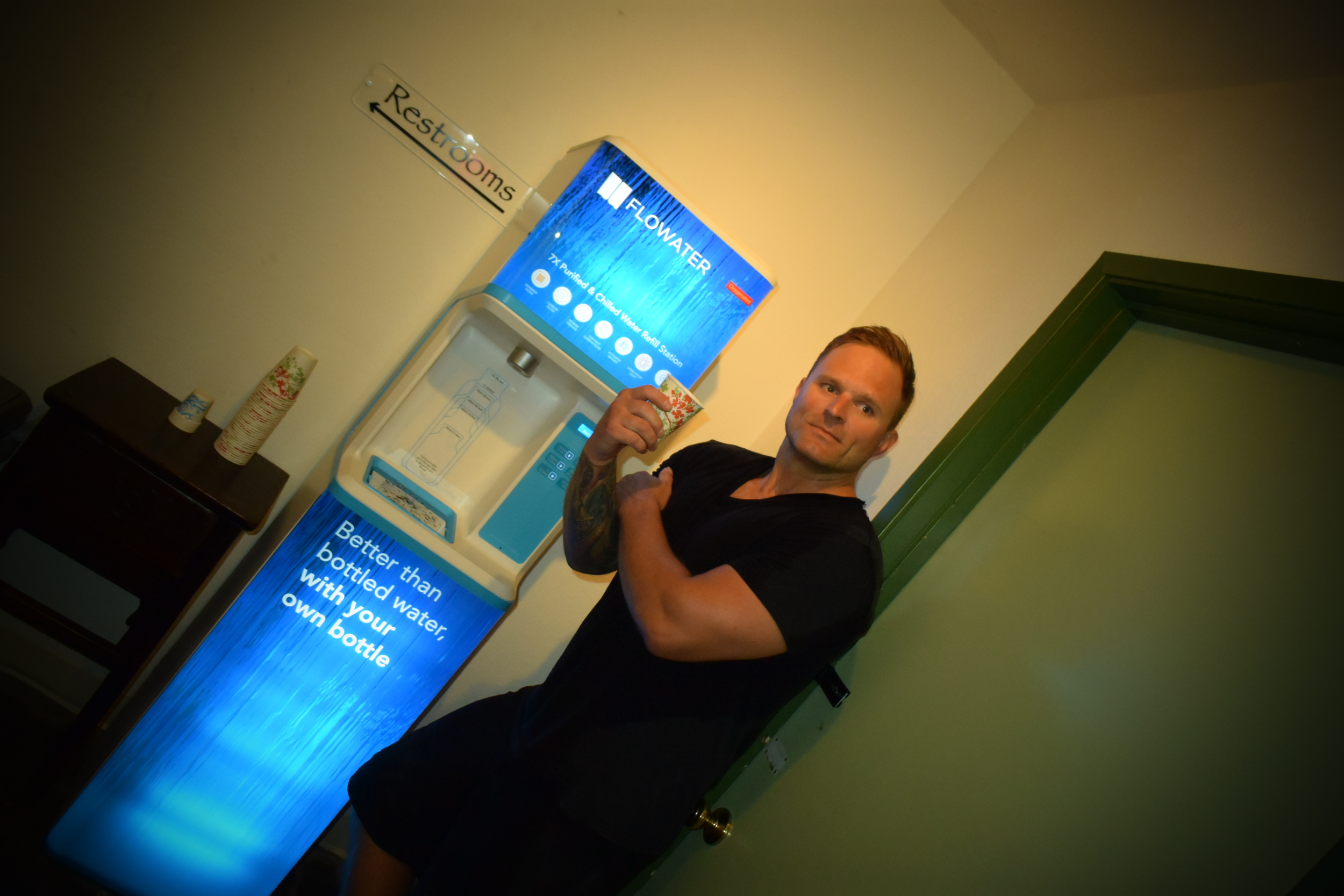 Notice we received our new flowater oxygenated, alkaline water system. DRINK UP and oxygenate and alkinate!  Now for some Vimeo video fun...
