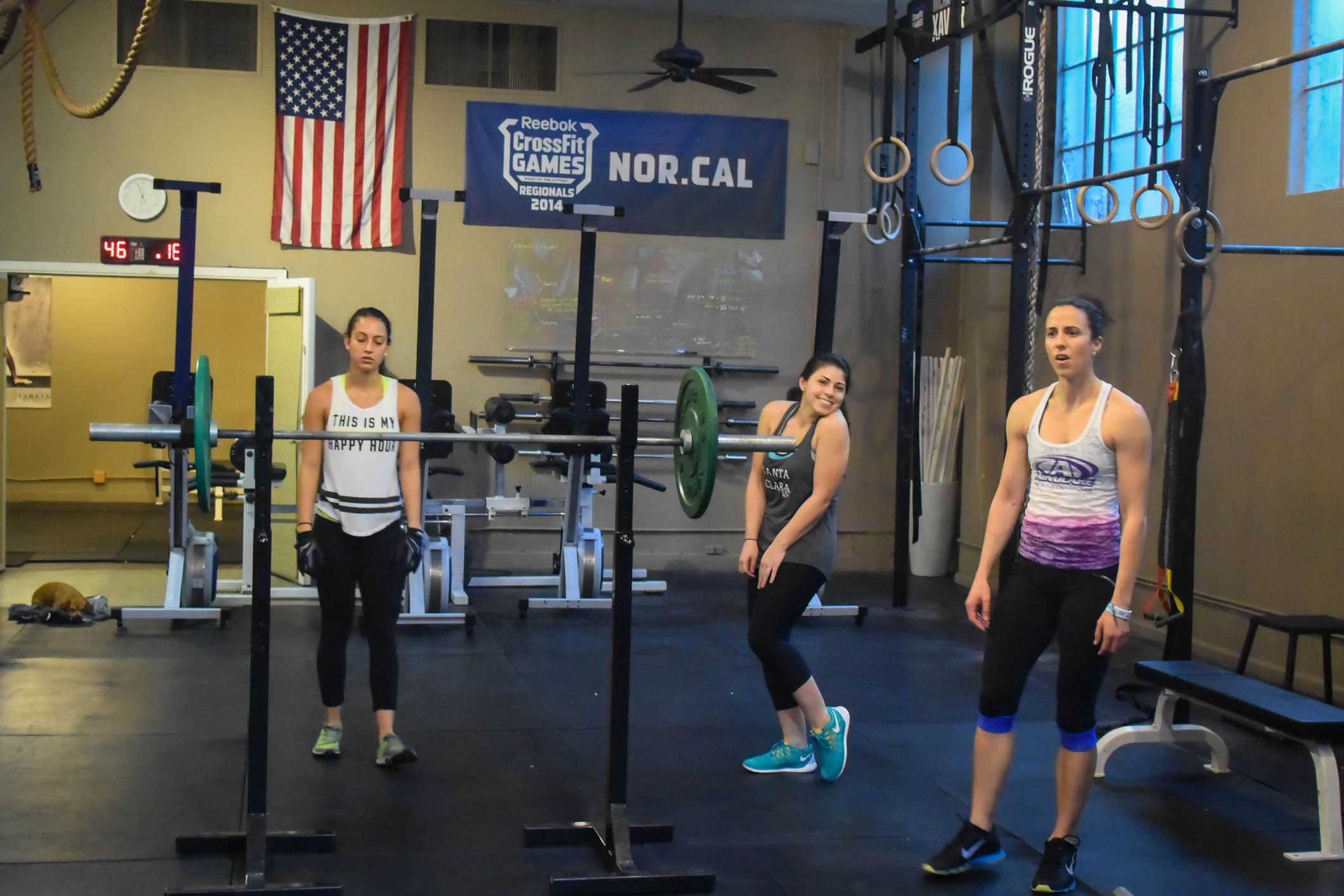 Team Natacha, T(2), and Rachael vs.CrossFit Total!