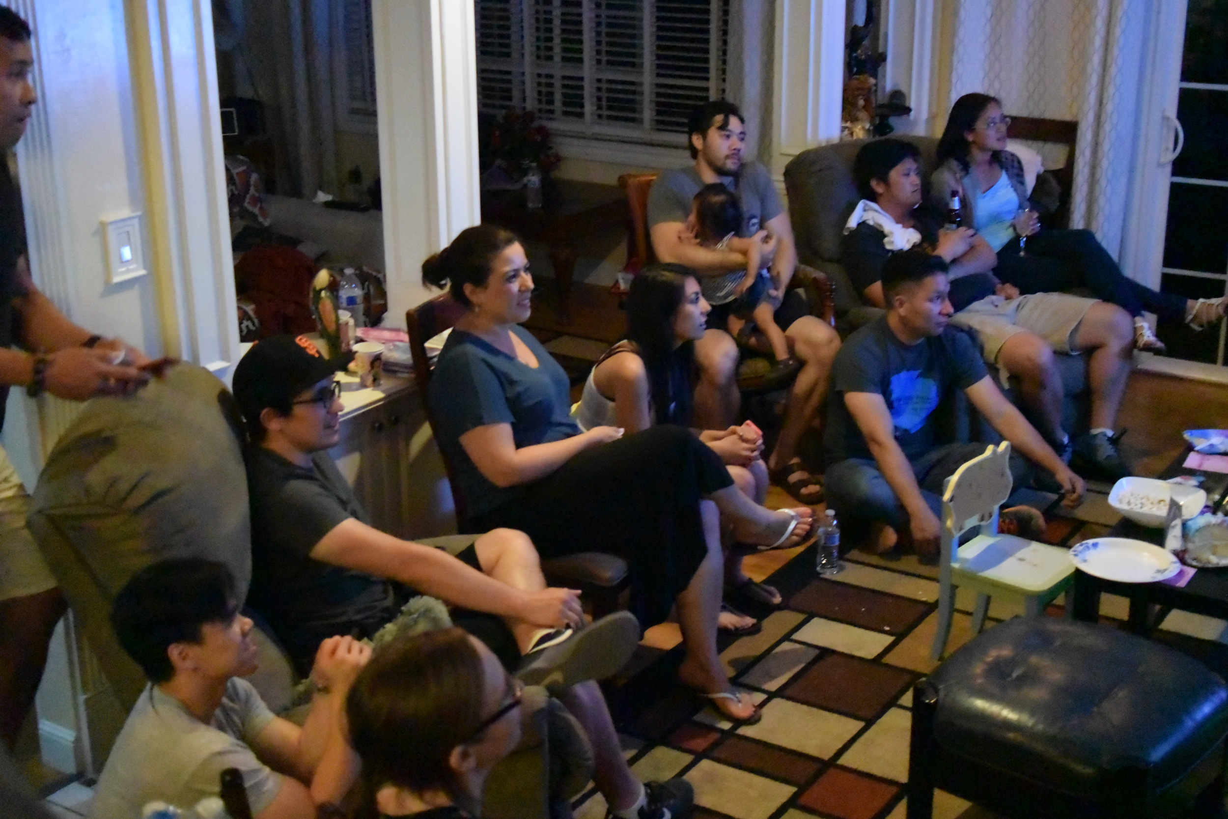 """Watching the Pacquiao-Mayweather """"Fighting of the Century"""". Great friends made it fun and worthwhile!"""