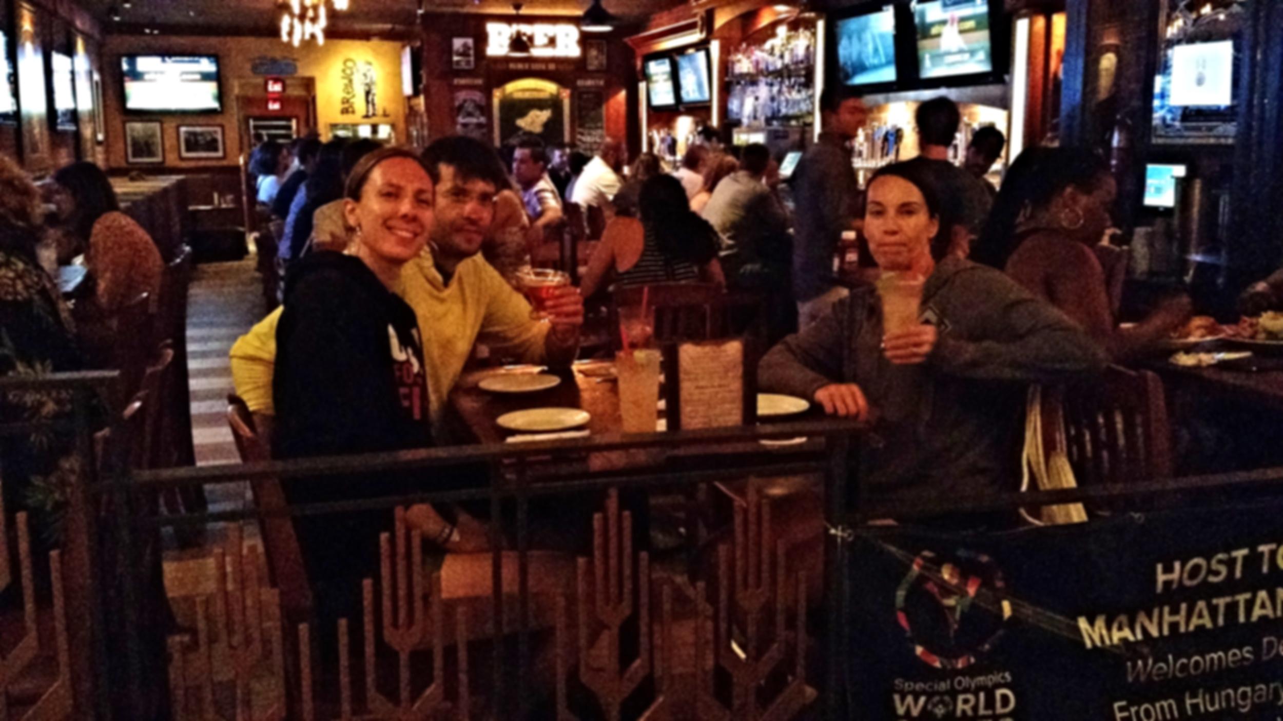 After a long week of CrossFit Games WORK, coach Andréa enjoys a well deserved Margarita with good CFSV friends!!!
