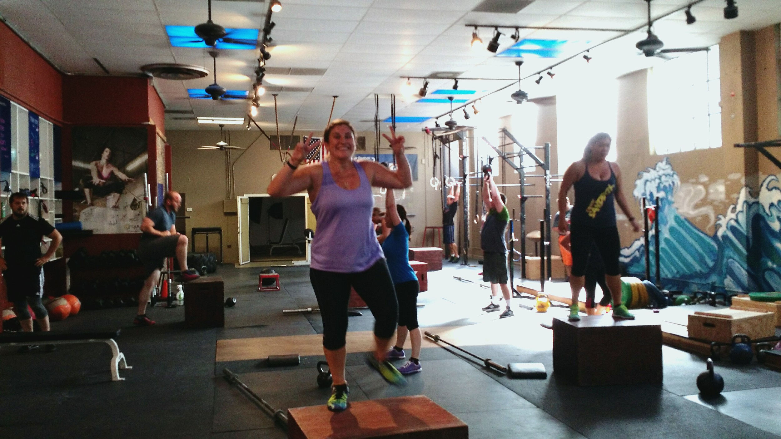 Welcometo CrossFit Silicon Valley Bre! She is super cool and ultra fun to coach. She has some CrossFit experience and she enjoys the no frills, snake oil free, positive box environment that CFSV provides.