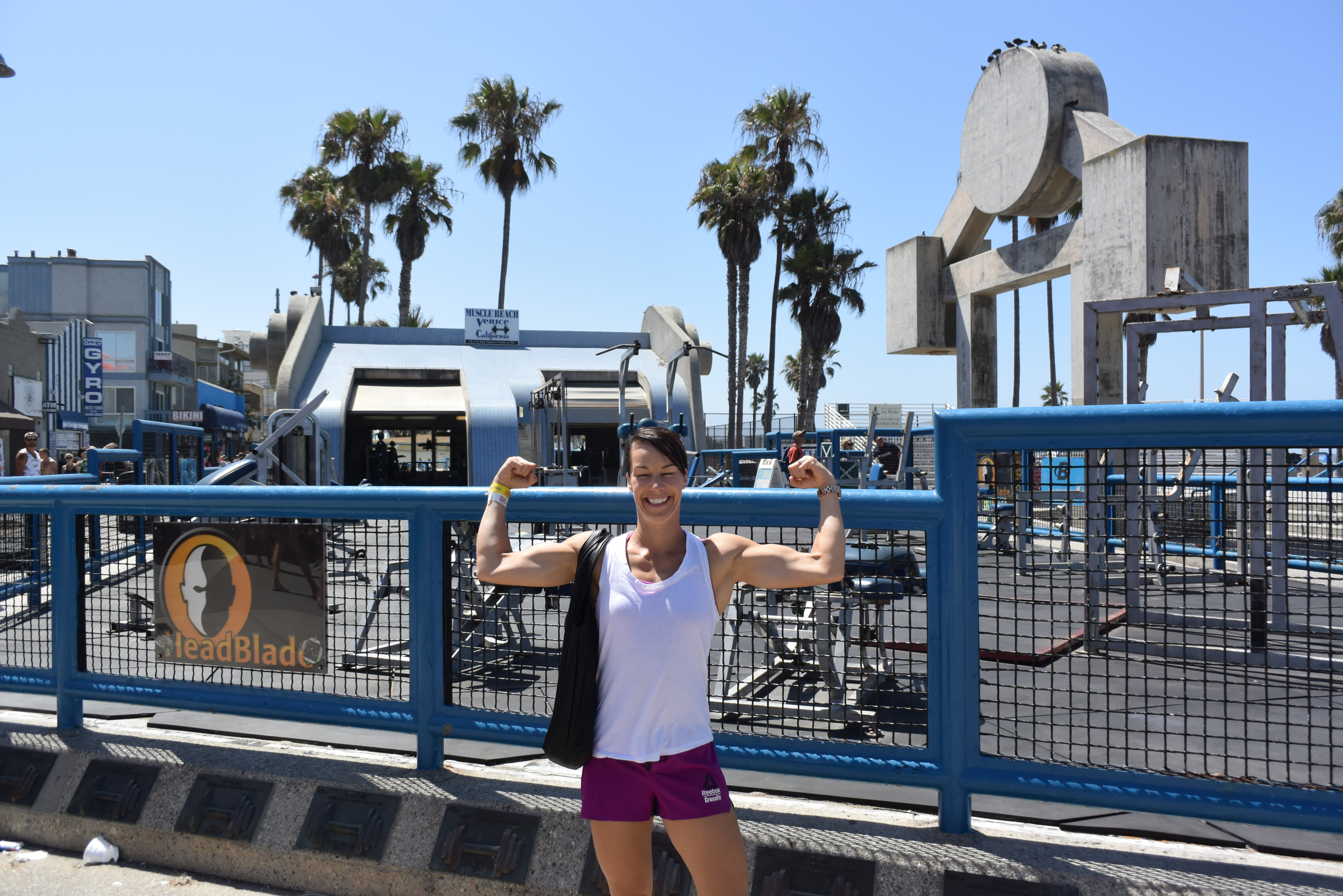 What a fun place to WOD! Muscle beach may be missing a few key things, like the CFSV vibe, but one can still get a great workout in the middle of Venice Beach!
