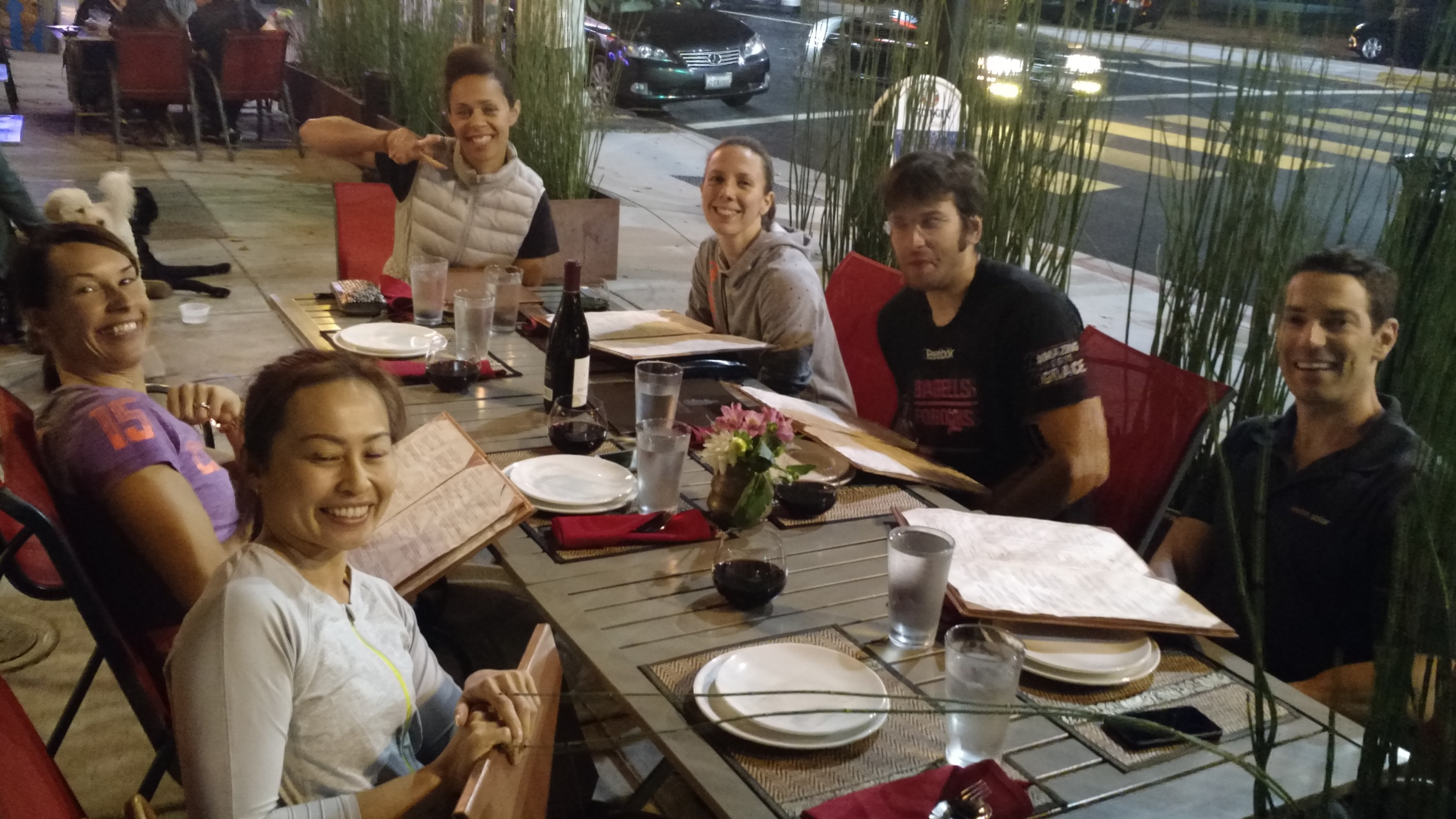 The CFSV crew enjoying al fresco dining at our neighbor down the street  Teeni Thai !