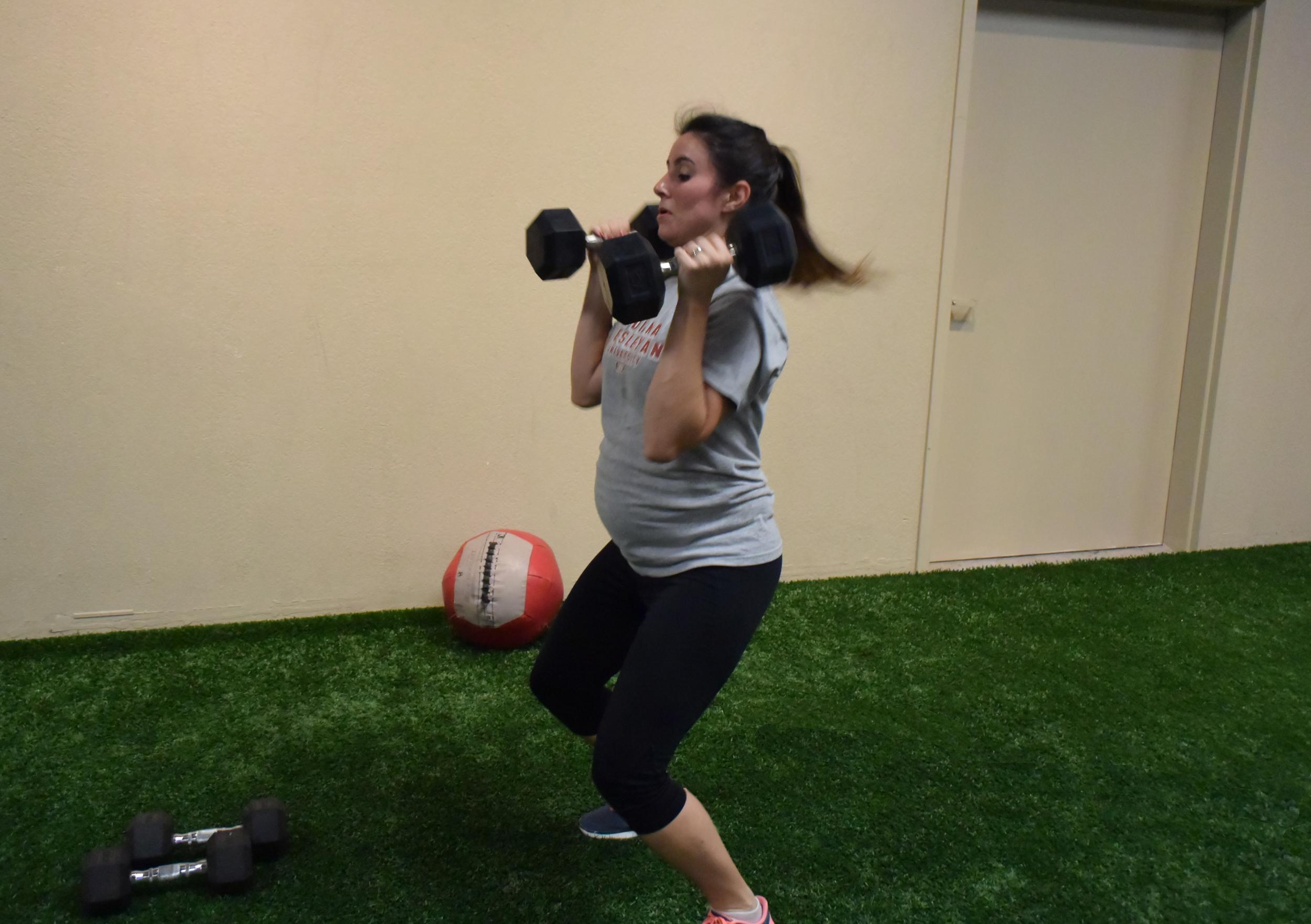 Amy trains for the mega ultra marathon that is raising a child!